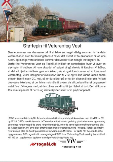Støttepin til Veterantog Vest